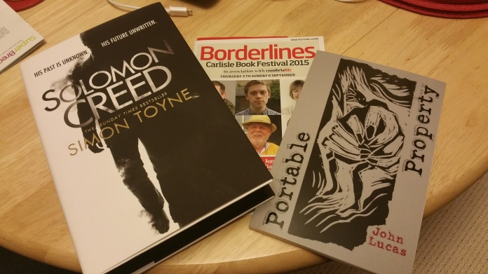 The books I bought at Borderlines Festival, Carlisle.